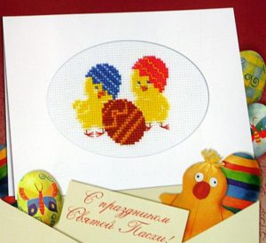Схема вышивки Пасхальные цыплята