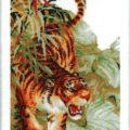 Схема вышивки Тигр