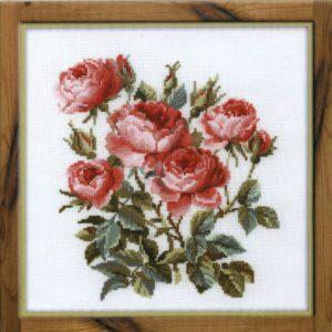Схема вышивки Красные розы