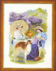 Схема вышивки Усадьба