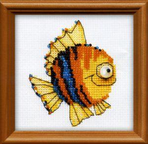 Схема вышивки бисером Рыбка