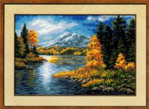 Схема вышивки Горное озеро
