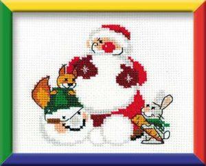 Схема вышивки Снеговик
