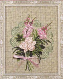 Схема вышивки Цветы лентами