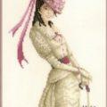 Схема вышивки Девушка в розовом