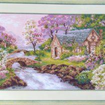 Схема вышивки Весенний пейзаж