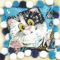 Схема вышивки Подушка Котенок