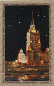 Схема вышивки Москва