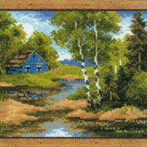 Схема вышивки Домик в лесу