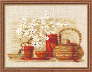 Схема вышивки Чай
