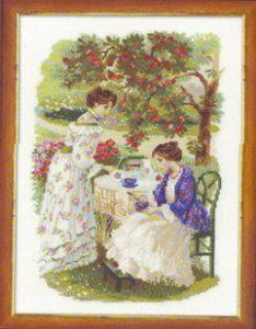 Схема вышивки Яблоневый сад
