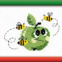 Схема вышивки Зеленое яблоко