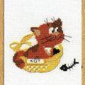 Схема вышивки Котик