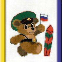 Схема вышивки Медвежонок