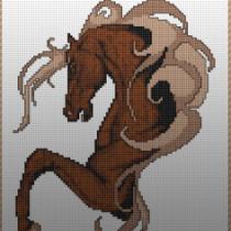 Схема вышивки Крестиком Лошадь