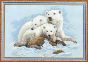 Схема вышивки Белые медведи