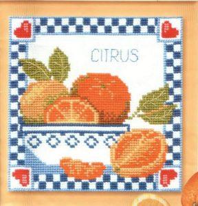 Схема вышивки Апельсины