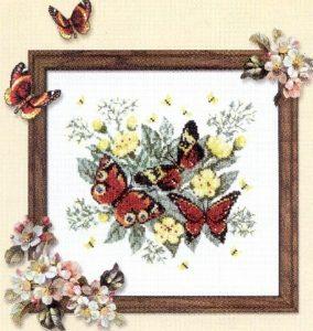 Схема вышивки крестиком Бабочки