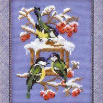 Схема вышивки Воробьи