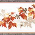 Схема вышивки Кленовые листья