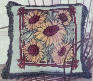 Схема вышивки Подушка с подсолнухами
