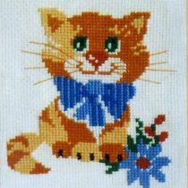 Схема вышивки Рыжий кот