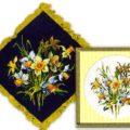 Схема вышивки Салфетка с цветами