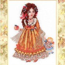 Схема вышивки Девочка с яблоком