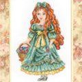 Схема вышивки Девочка с цветами