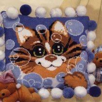 """Схема вышивки Подушка """"Кот"""""""