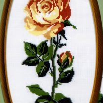 Схема вышивки Желтая роза