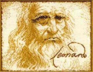 Схема вышивки Леонардо да Винчи
