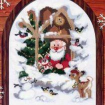 Схема вышивки Дед Мороз