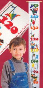 Схема вышивки Красочный ростомер