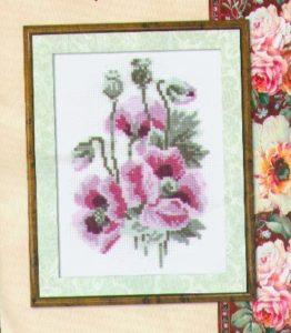Схема вышивки Розовые маки