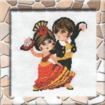 Схема вышивки Фламенко