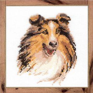 Схема вышивки Собака Колли