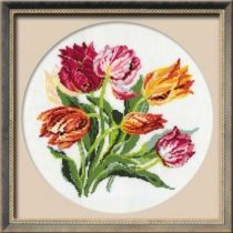 Схема вышивки Яркие тюльпаны