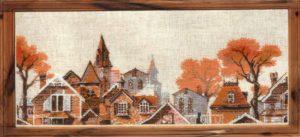Схема вышивки Осень в городе