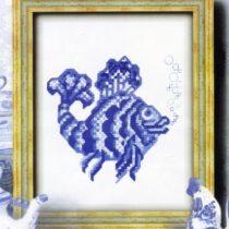 Схема вышивки крестиком Рыбка