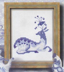 Схема вышивки Необычный олень