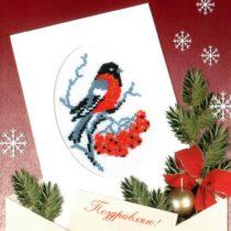 Схема вышивки Зимняя открытка