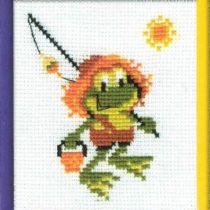 Схема вышивки Веселый лягушонок