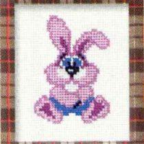 Схема вышивки Розовый кролик