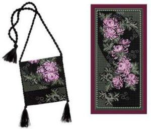 Схема вышивки Панно с цветами
