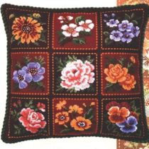 Схема вышивки Подушка в стиле пэчворк