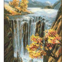 Схема вышивки Осенний водопад