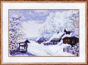 Схема вышивки Русская зима