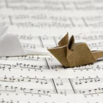 Схема оригами Мышь из бумаги