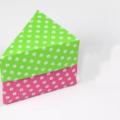 Схема оригами Треугольная коробка или коробочка в форме кусочка торта